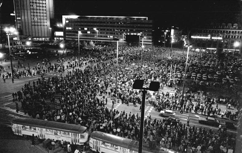 Montagsdemonstartion in Leipzig 1989